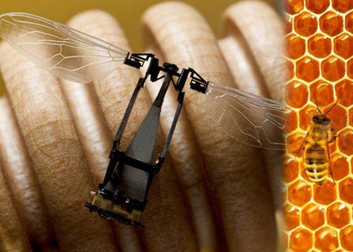 Esta es la abeja robot que Monsanto, productor de los fungicidas que las están exterminando, tiene para reemplazarlas