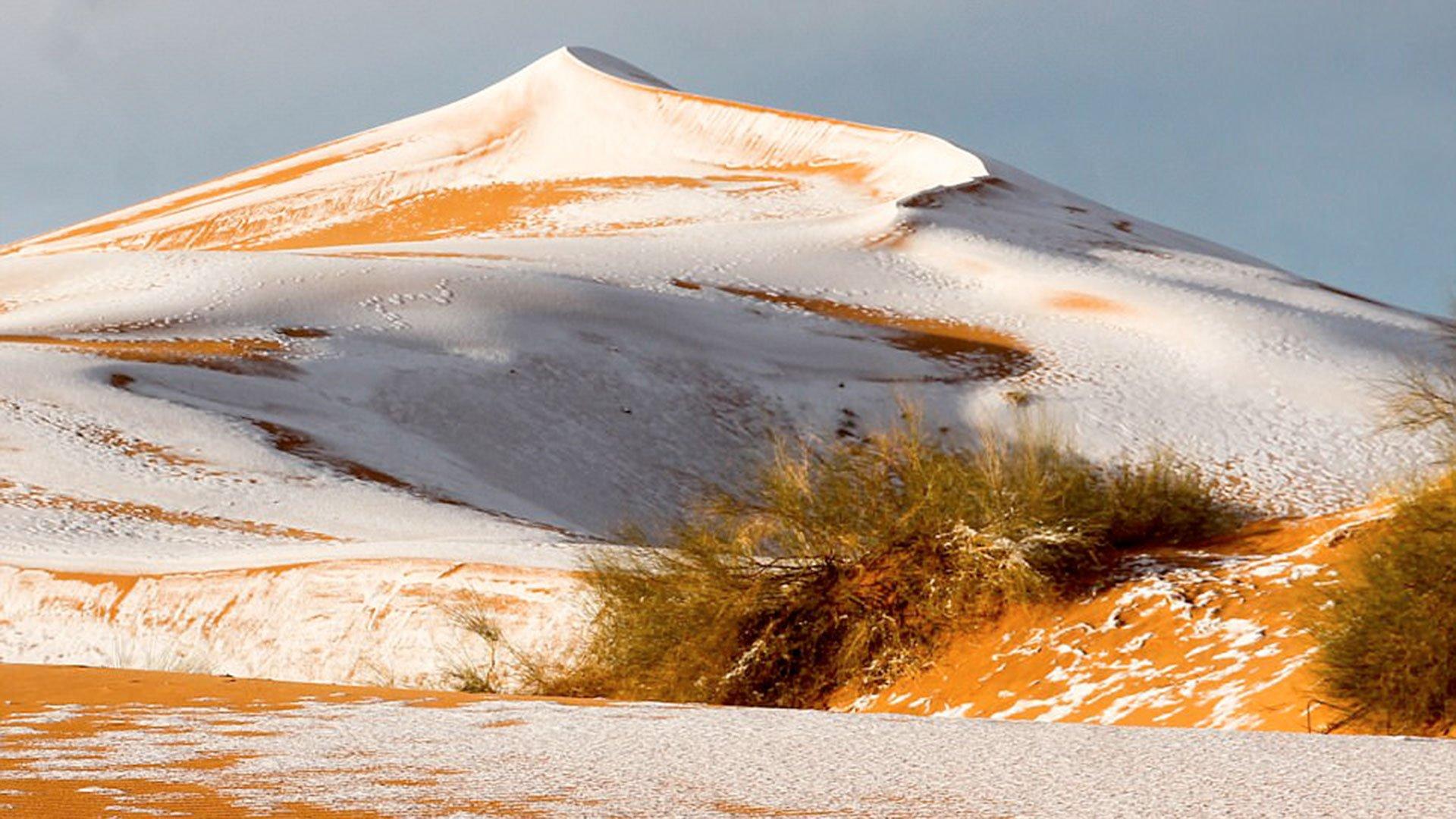 El cambio climático trae consigo temperaturas extremas y nieve donde no debería haber