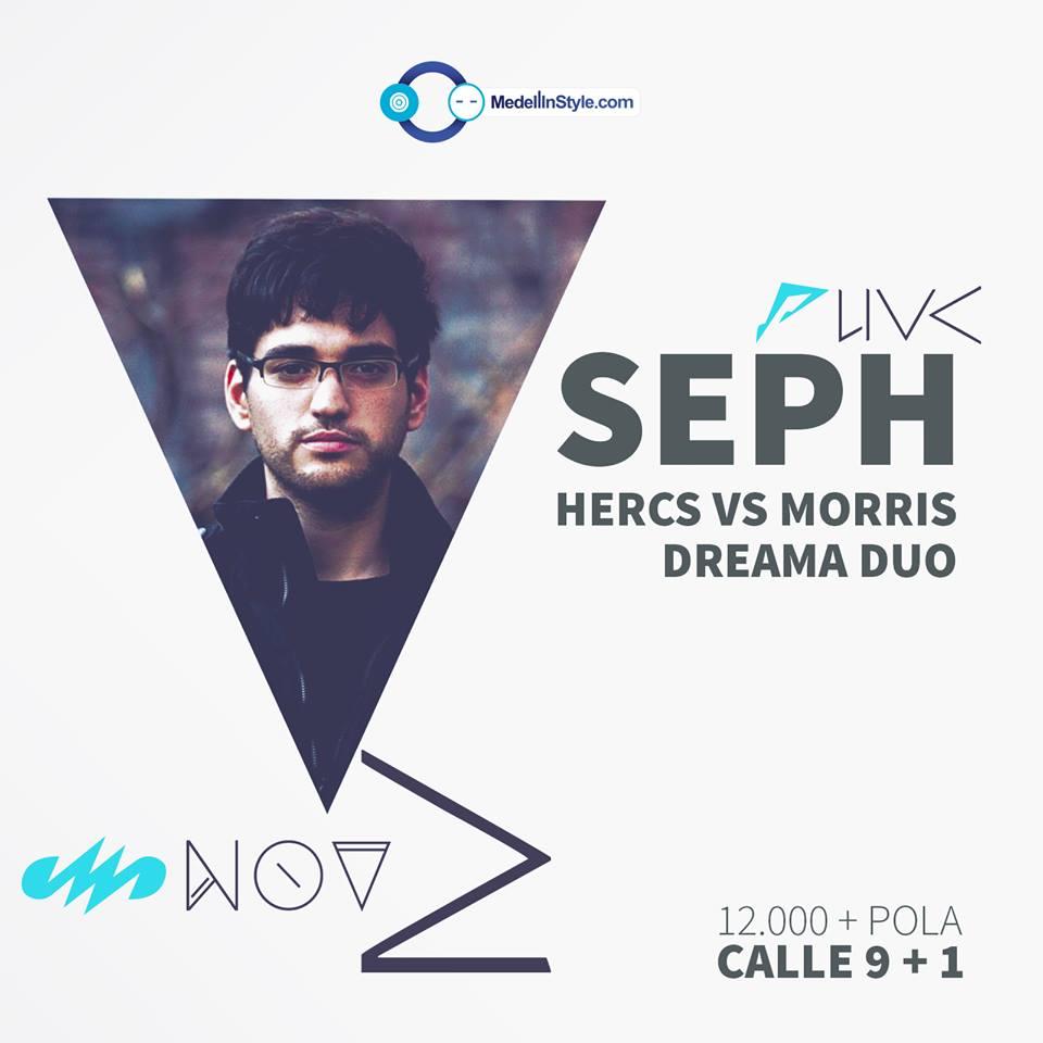 MedellinStyle.com presenta SEPH Este Sábado 2 de Noviembre en la Fiesta de HALLOWEEN en Calle 9+1
