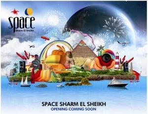 Space Anuncia la próxima apertura del nuevo Club Sharm el Sheikh en Egipto.