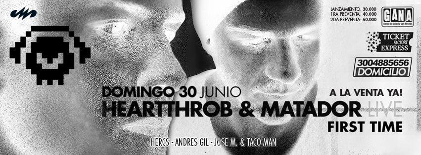 ESTE DOMINGO DE PUENTE HEARTTHROB & MATADOR LA FIESTA MINIMALERA DEL 2013 @ BOLETAS A $40.000 EN TODOS LOS GANA HASTA este JUEVES