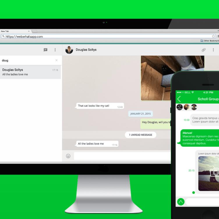 whatsapp web client app screenshot example